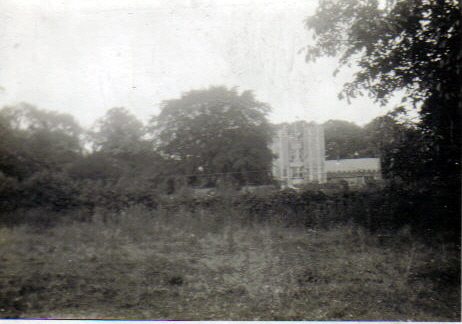 View across the fields to The Towers as it looked in 1931