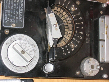 Part of the bomb release controls from a Lancaster