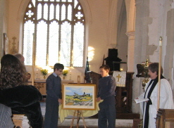 a The Lancaster painting is unveiled